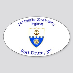 2nd Bn 22nd Inf Reg Sticker (Oval)